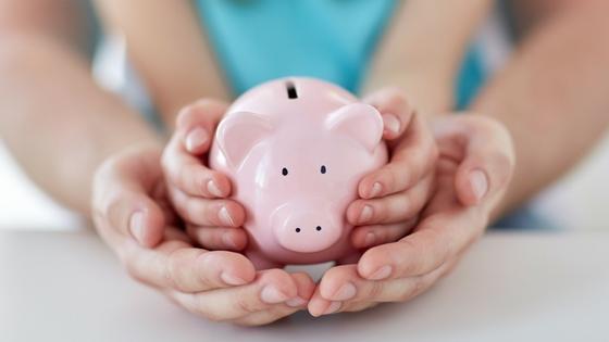 Kinderen geld besparen