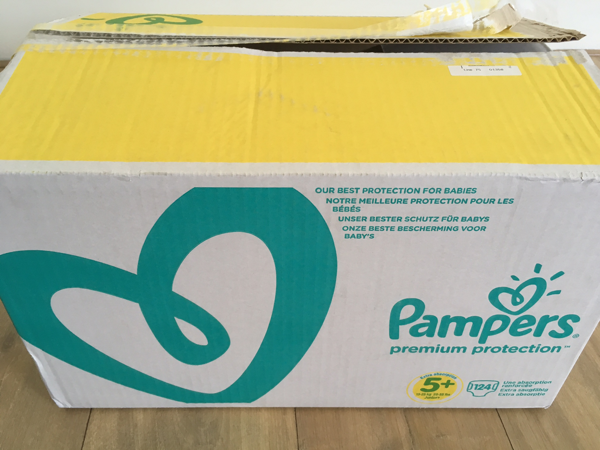 Review: Pampers maandbox van Wehkamp